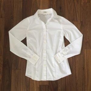 Van Heusen Classic White Button Down Dress Shirt